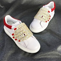 Alexander McQueen LV X SUPREME X ALEXANDER Diamond palm Shoes B-DXTY-XZ Red