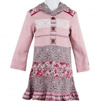 Naartjie Kids   Baby Girl Clothes   Naartjie Baby Girl Clothes   Ribbon Trimmed Pieced Hooded Dress