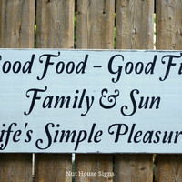 Beach Decor Beach Sign Lake Sign River House Pool Signs Porch Kitchen Nautical Summer Food Fun Family Sun Life Rustic Wood Wooden Plaque