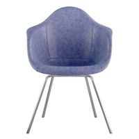 Mid Century Classroom Arm Chair Weathered Blue