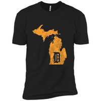 "Detroit Michigan - Motor City, Midwest ""D"" Mitten T-Shirt"