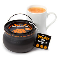 Halloween Orange Hot Chocolate Cauldron