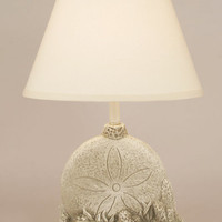Sand Dollar with Shell Table Lamp