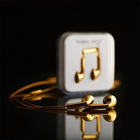 Happy Plugs Gold Earbuds