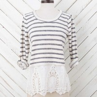 Altar'd State Stripes and Lace Top | Altar'd State