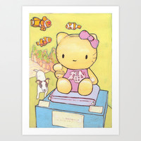 Hello ! Art Print by Cyrille Savelieff