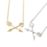 arrow necklace, arrow, arrow jewelry, minimalist necklace, man necklace, double arrow necklace, double arrow, simple necklace