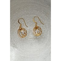Vintage Caged Dice Dangle Earrings