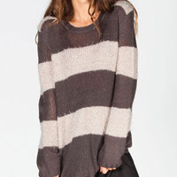 Billabong Fuzzy Womens Sweater Off-Black  In Sizes