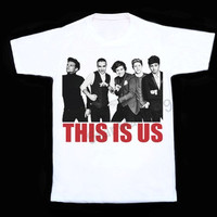 One Direction This Is Us The Movie T Shirt One Direction T Shirts Women Vest Sleeveless Singlet Unisex Women T Shirts White Shirt Size S,M,L