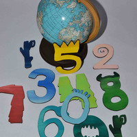 Where The Wild Things Are 1-10 Numbers –  Wooden Numbers – Wooden Alphabet– Story Book Theme Party
