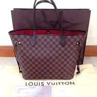 LV tide brand female classic old flower shopping bag mother bag two-piece