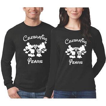 Couples Personalized Anniversary Shirts - Long Sleeve
