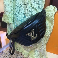 LV Louis Vuitton LEATHER BUMBAG WAVE WAIST PACK CROSS BODY BAG