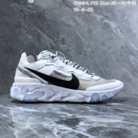 HCXX N1477 Nike Epic React Element 87-Undercover Mesh Running Shoes White Black