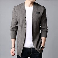 Cardigan Men Casual Knitted Cotton Wool Sweater Men Clothes New Mens Sweaters And Cardigans Coat