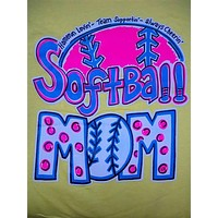 SALE Southern Chics Funny Softball Mom 2 Sweet Thing Girlie Bright T Shirt