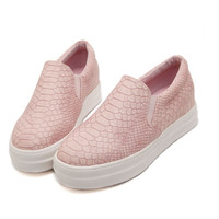 2016 Spring Autumn Casual Soft Flats Shoes Women Pink Black Round Toe Ladies Slip On Moccasins Driving Pregnant Loafers Creepers