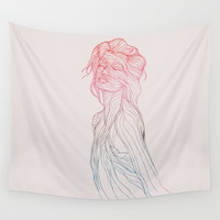 Someplace Beautiful Wall Tapestry by Huebucket