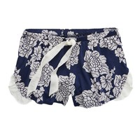 Aerie Women's Softest Print Boxer (Odyssey Blue)