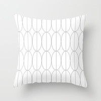 Lines Decorative Black & White 3 Throw Pillow by Maioriz Home