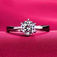 Classic 18K Gold/SIlver Plated Crystal Ring Wedding Engagement Love Promise Jewelry