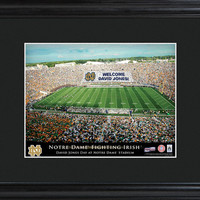 College Stadium Print with Wood Frame - Notre Dame