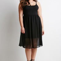 Fit & Flare Combo Dress