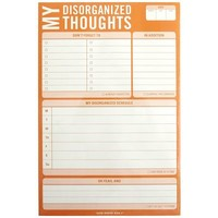 Disorganized Thoughts Notepad