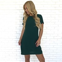 Santorini Shift Dress in Emerald