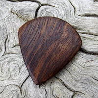 Handmade Premium Wood Mini-Guitar Pick - Caribbean Rosewood - Smaller than standard size guitar picks