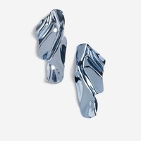 Metallic Crinkle Earrings | Topshop