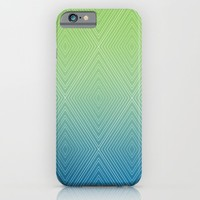 Diamonds (GreenFlashSnorkelBlue Fade) iPhone & iPod Case by Shawn King