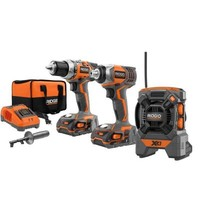 RIDGID, 18-Volt X4 Hyper Lithium-Ion Cordless Drill and Impact Driver Combo Kit (3-Tool) with Radio, R9601 at The Home Depot - Tablet