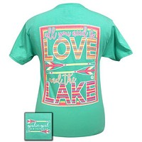 Sale Girlie Girl Preppy Love And The Lake Arrow T-Shirt
