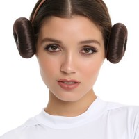 Licensed cool Disney Star Wars Princess Leia Hair Headband Buns Cosplay Costume Dress Up NWT