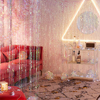 Iridescent Fringe Curtain Decor - Urban Outfitters