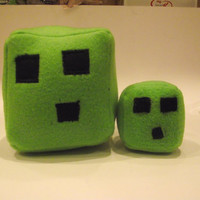Minecraft small slime cube plush/ cat toy/ car accessory