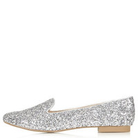 SPARROW Glitter Slipper Shoes - Silver