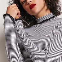 Stripe Turtleneck Top