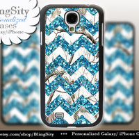 White Camo Sparkle Chevron Galaxy S4 S5 case Aqua teal Real Tree Camo Deer Personalized RealTree Samsung Galaxy S3 Case Note 2 3 Cover