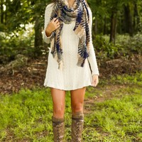 Autumn Chill Sweater Dress-Taupe