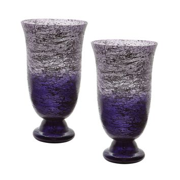 Plum Ombre Flared Vase - Set of 2 Purple Ombre