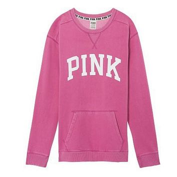 """""""PINK"""" Victoria's Secret Shirt Pullover Sweater Blouse Top(7-Color) Pink"""