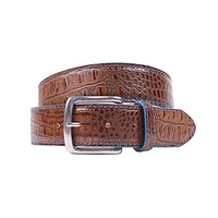 Travis Moc Croc Belt in Briar Brown by Country Club Prep