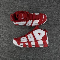 Supreme Nike Air More Uptempo Red/White 902290-600 Size 36---46