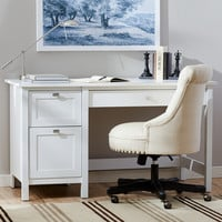 Three Posts Ackerson Pedestal Computer Desk