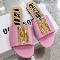 Moschino Spring summer letter flat bottom drag