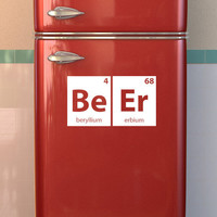 Medium Periodic Table Beer Decal for Fridge or Refrigerator, Wall, Office, Dorm or Kitchen