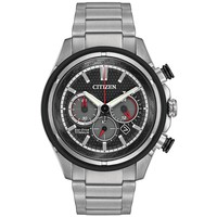 Men's Citizen Eco-Drive Titanium Black Dial Watch